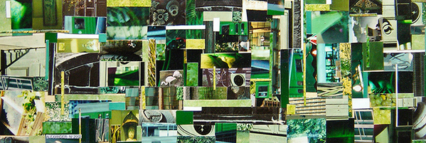 """URBAN collage"" 12 x 4 Inches"